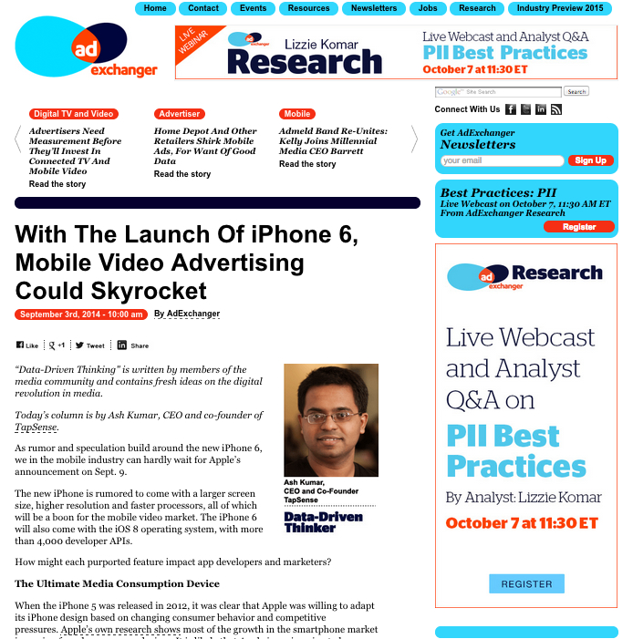 AdExchanger iPhone Ultimate Media Device