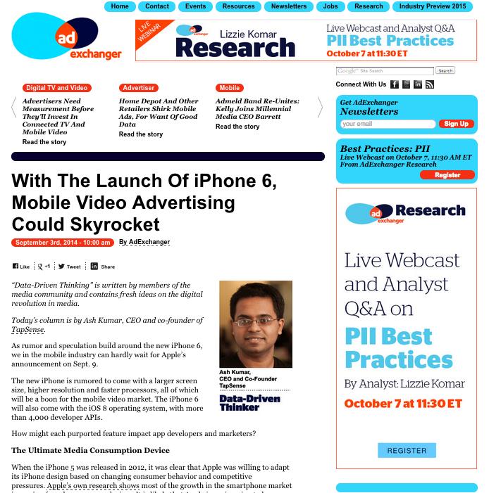 AdExchanger iPhone Ultimate Media Device
